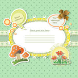 Vector baby card Royalty Free Stock Photo