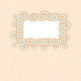 Vector baby card with frame and buttons Royalty Free Stock Images