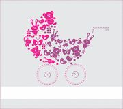 Vector Baby Card. Isolated on white background with space for your text. EPS file available Stock Illustration
