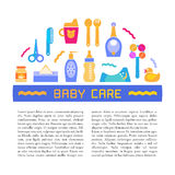 Vector baby care and baby products design element with place for your text Stock Photography