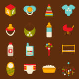 Vector baby care and newborn goods Royalty Free Stock Image