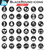 Vector Baby circle white black icon set. Ultra modern icon design for web. Royalty Free Stock Image