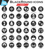 Vector Baby circle white black icon set. Ultra modern icon design for web. Stock Images