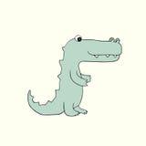 Vector baby croc. Cartoon illustration. Vector illustration of  baby croc. Isolated cartoon animal Royalty Free Stock Image