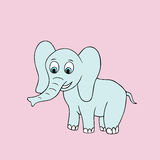 Vector baby elephant. Cartoon illustration Royalty Free Stock Images