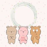 Vector Baby Frame Royalty Free Stock Images