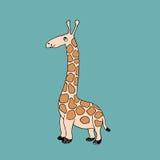 Vector baby giraffe. Cartoon illustration Royalty Free Stock Photography