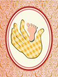 Vector baby girl announcement card. Baby girl announcement card. vector illustration Royalty Free Stock Image