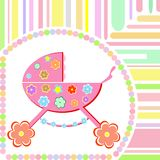 Vector Baby girl arrival greeting card Stock Image