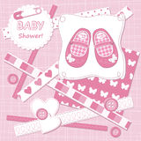 Vector baby girl  card Royalty Free Stock Image
