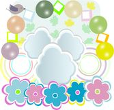 Vector Baby Girl Card With Scrapbook Elements Royalty Free Stock Photos