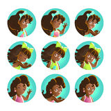 Vector baby girl portrait collection isolated. Stock Image