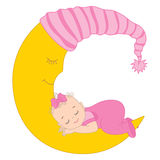 Vector Baby Girl Royalty Free Stock Photo