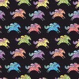 Vector Baby Horse Pattern Stock Images
