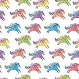 Vector Baby Horse Pattern Stock Photo