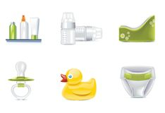 Vector baby icons. Part 3 Stock Photo