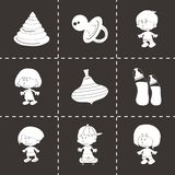 Vector baby icons set Royalty Free Stock Photo