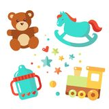 Vector baby icons Royalty Free Stock Photo