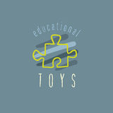 Vector baby logo. Vector trendy hand drawn cute toy shop  logo Stock Images