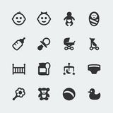 Vector baby mini icons set Stock Image