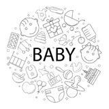 Vector Baby pattern with word. Baby background. Vector illustration vector illustration