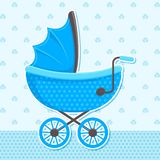 Vector Baby Pram Royalty Free Stock Image