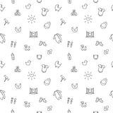 Vector baby or pregnancy seamless pattern. Newborn Royalty Free Stock Photo