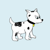 Vector baby puppy. Cartoon illustration Stock Photography