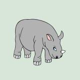 Vector baby rhino . Cartoon illustration Royalty Free Stock Images