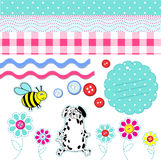 Vector baby scrapbook elements Stock Images