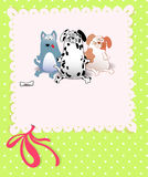 Vector baby shower with dogs Royalty Free Stock Photo