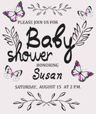 Vector baby shower Stock Images
