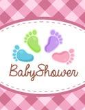 Vector baby shower invitation Stock Image
