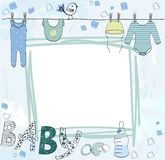 Vector baby shower. royalty free illustration