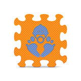 Vector baby sign made with alphabet puzzle Royalty Free Stock Photography