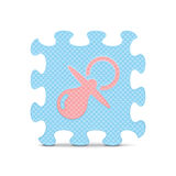 Vector baby sign made with alphabet puzzle Stock Photos