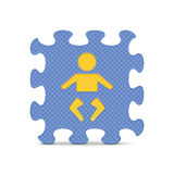 Vector baby sign made with alphabet puzzle Stock Photo