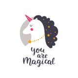Vector baby unicorn Stock Photos