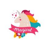 Vector baby unicorn Stock Photo