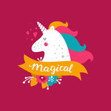 Vector baby unicorn Stock Photography