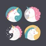 Vector baby unicorn Royalty Free Stock Image