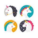 Vector baby unicorn royalty free stock image