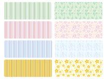 vector babyachtergronden Royalty-vrije Stock Foto