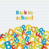 Vector back to school background. Paper grade composition. Stock Photos