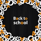 Vector back to school background. Paper grade composition. Stock Photography