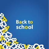 Vector back to school background. Paper grade composition. Stock Images