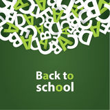 Vector back to school background. Paper grade composition. Playfully banner with place for your content Royalty Free Stock Photos