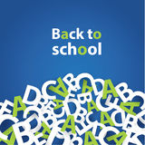 Vector back to school background. Paper grade composition. Royalty Free Stock Image