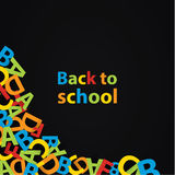 Vector back to school background. Paper grade composition. Royalty Free Stock Images