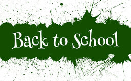Vector Back to School Banner With Ink Green Blots Royalty Free Stock Photos
